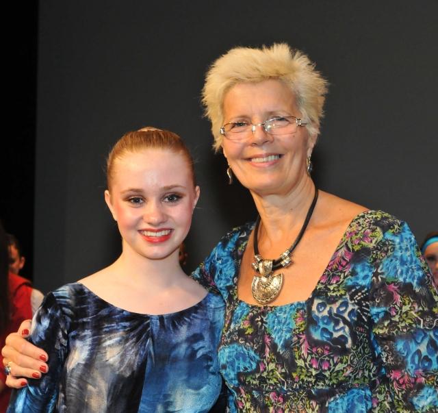 Emily Devine with adjudicator Jill Baldock